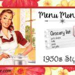 Menu Monday ~ 1950s Style