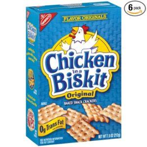 Chicken in a Biskit crackers
