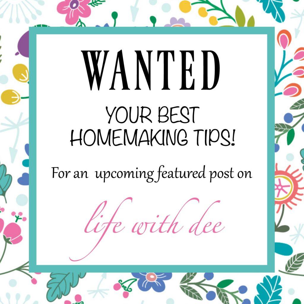 Your Best Homemaking Tips