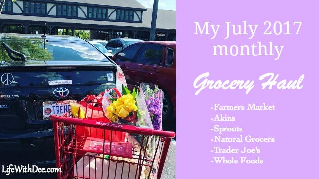 July 2017 grocery haul