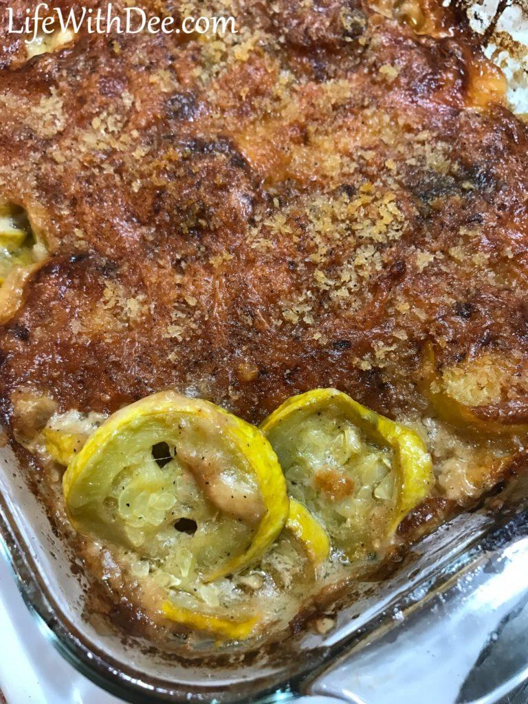 Squash Casserole - baked