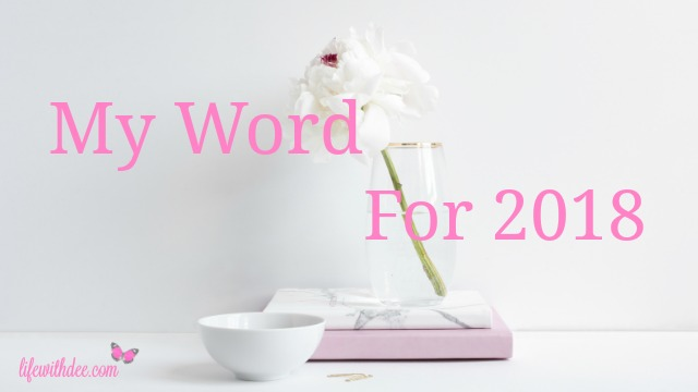 My Word for 2018