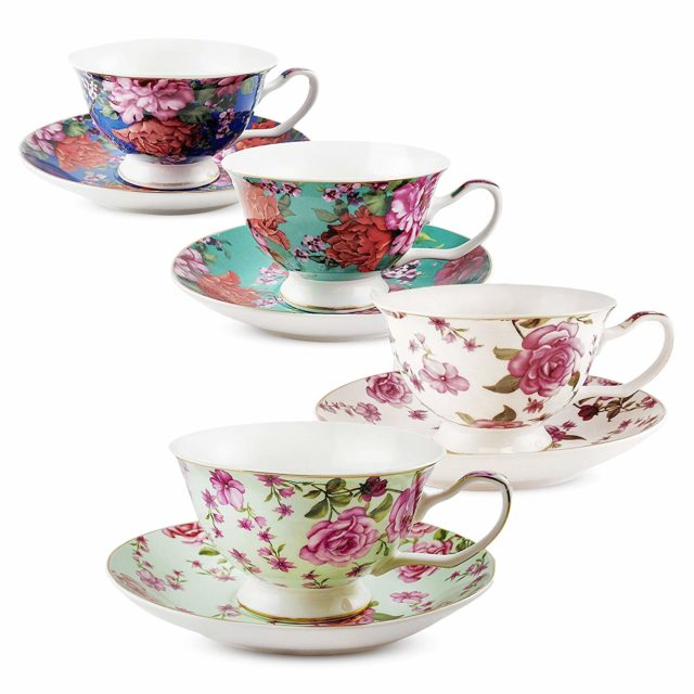 tea cup and saucer set