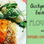 Chickpea Crumb Encrusted Flounder with Tomato Cream Sauce