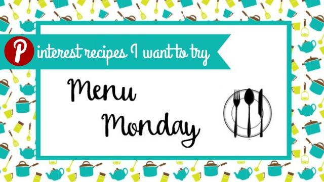 Menu Monday PInterest Recipes