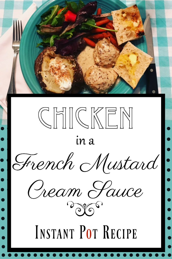 chicken French mustard cream sauce