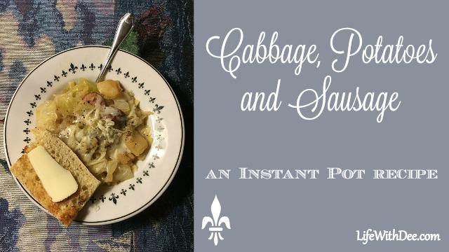 Cabbage, potato, sausage