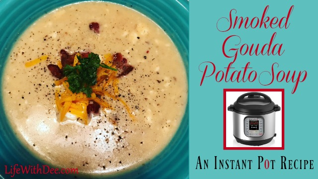 Smoked gouda potato soup