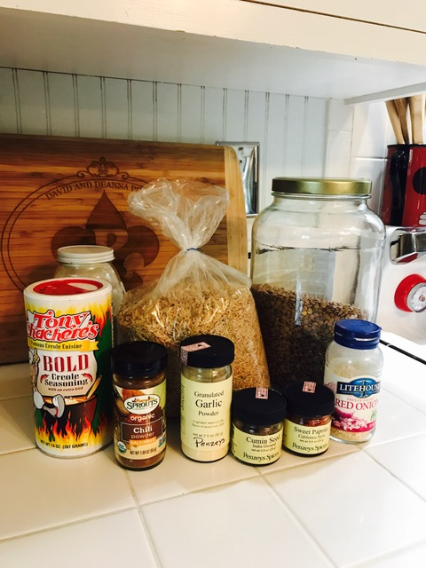 lentil rice ingredients