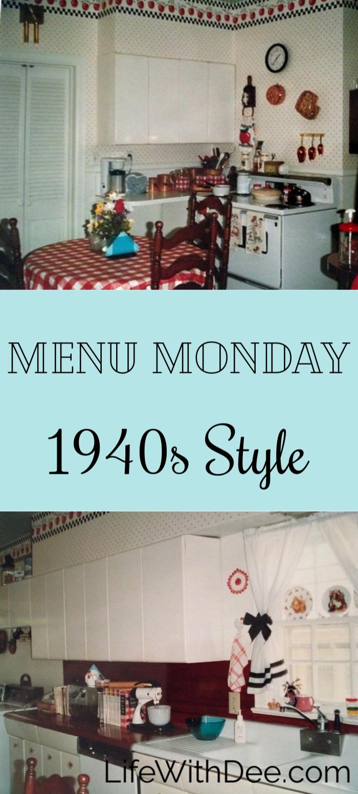 1940s menu