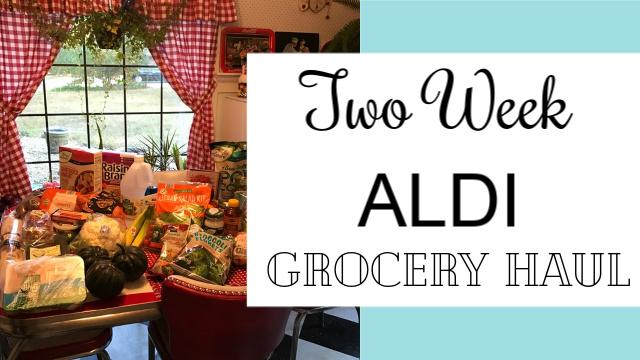 Two week Aldi grocery haul