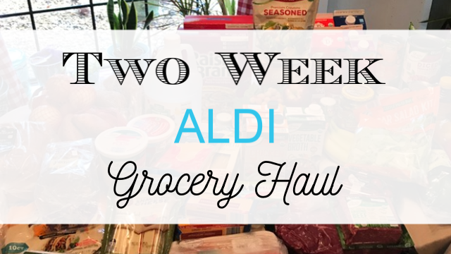 2 week Aldi grocery haul