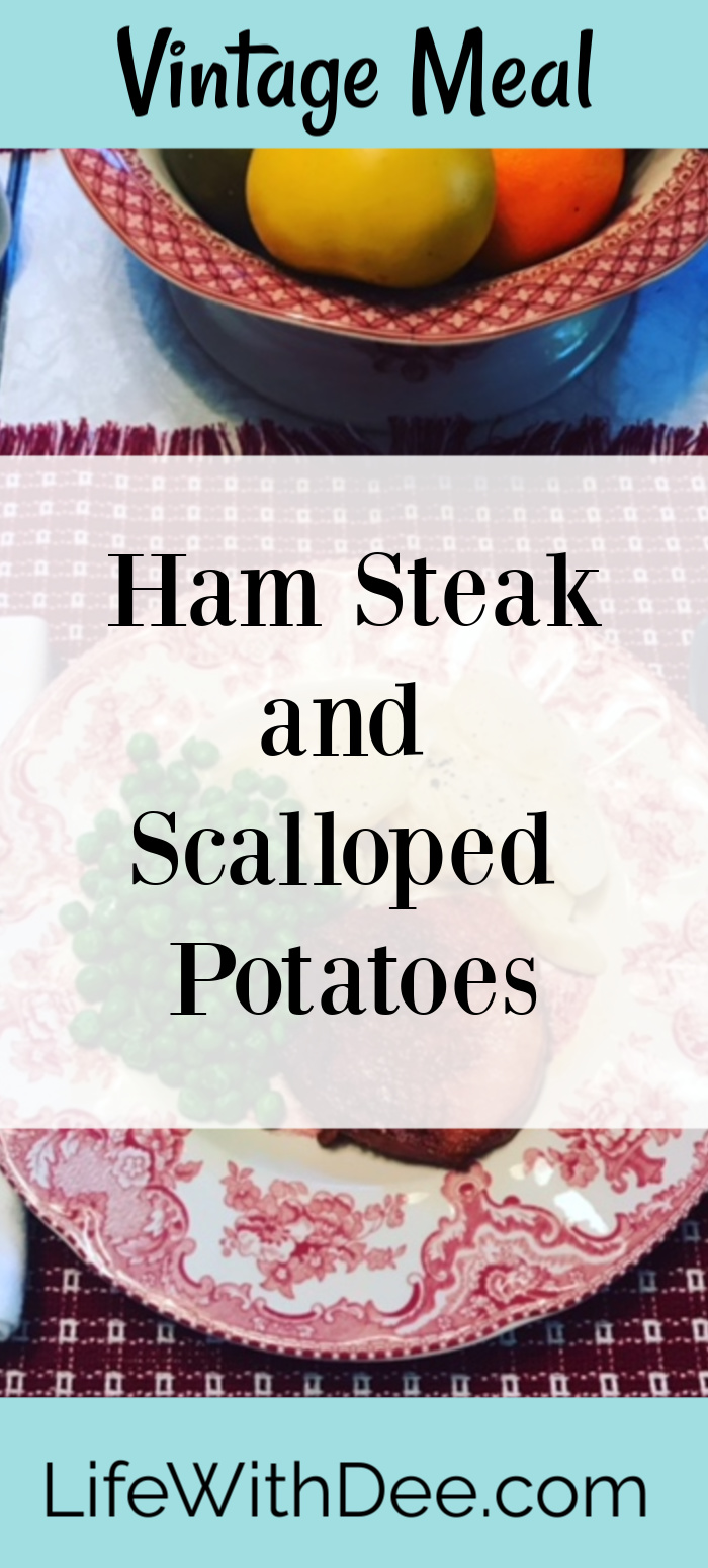 Ham and potato vintage meal