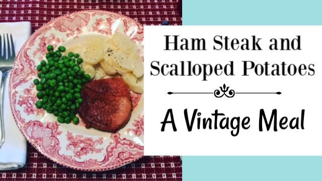 Vintage ham meal