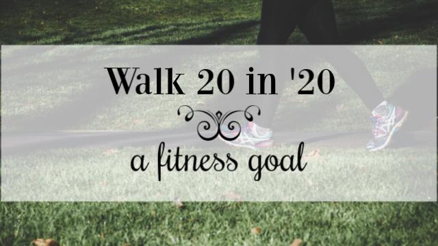 Walk 20 in '20 fitness goal