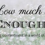 How Much is Enough? ~ Contentment in a World of Excess