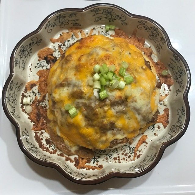 Tortilla casserole just out of oven
