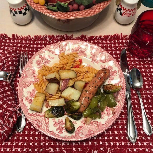 sausage and veggies
