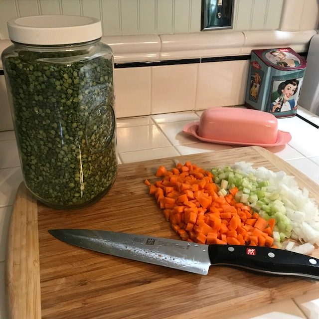 Split Pea Soup - ingredients