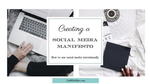 Social media manifesto - graphic