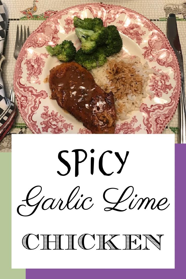 Spicy Garlic Lime Chicken Pinterest Image