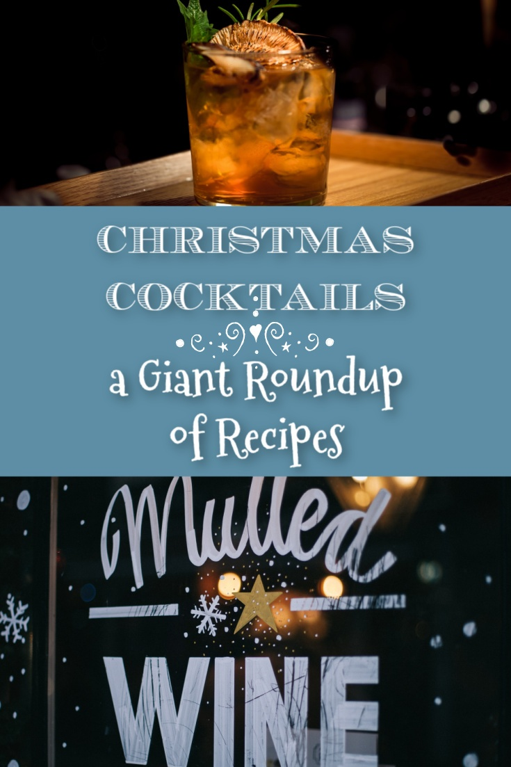 Christmas cocktails graphic