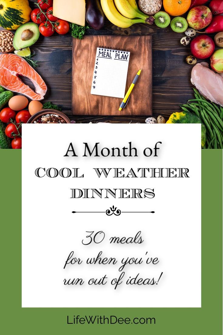 image - cool weather dinner menus