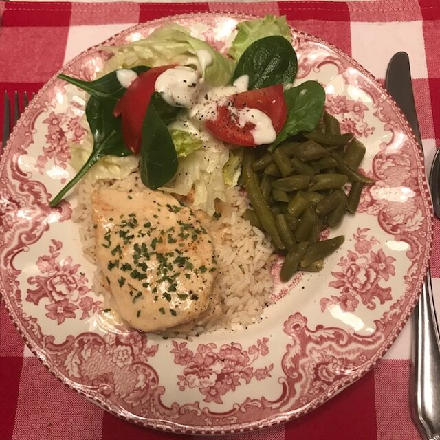 chicken breast paprika on plate