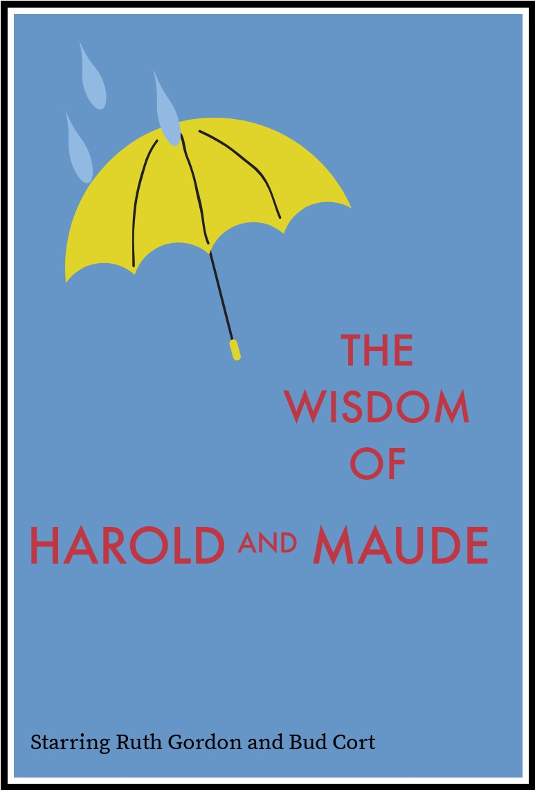 image Harold and Maude blue background red text