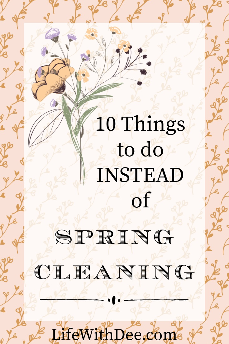 image floral background text overlay spring cleaning