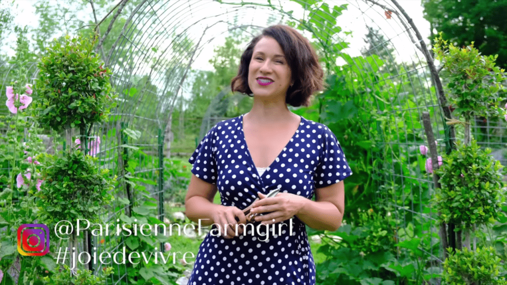image of woman and inspiring garden