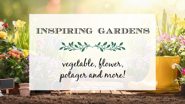 image garden with text overlay