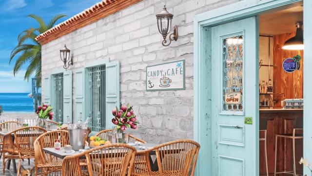 image seaside cafe