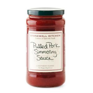 jar of simmering sauce
