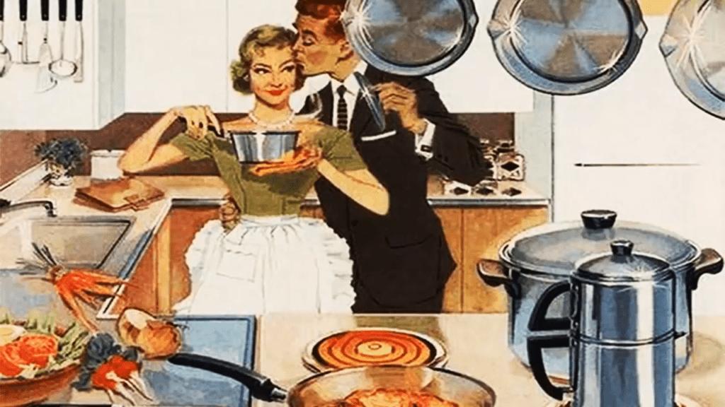 Retro kitchen picture