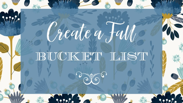 Fall Bucket List graphic